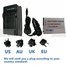 Battery + Charger for Nikon Coolpix AW100 AW110 S9200 S9300 S9400 S9500, EN-EL12