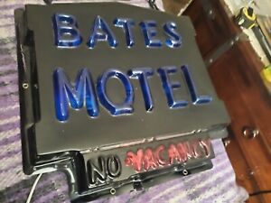 Bates Motel Lighted Sign Vacuform Incandescent Lamps 16x16 neon mancave psycho