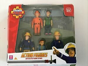 Fireman Sam Action Figures Articulated Damaged Box