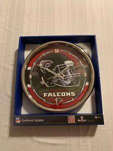 """Atlanta Falcons NFL Round 12"""" Chrome Clock Wincraft Brand New"""
