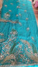 Bridal Hand Embroidered Punjabi Salwar Suit, heavy Chiffon Dupatta