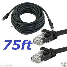 75 FT RJ45 Cat5 Ethernet LAN Network Cable for PC PS Xbox Internet Router Black