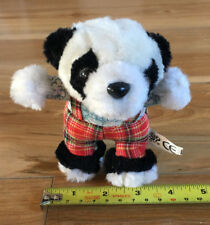 Black and White Snoopy style Panda - tartan soft bear : PMS SS13 1ST UK