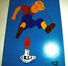 Judy wood puzzle Jig Saw Jack & Candlestick #37 Tray 1950'S Nursery Rhymes