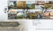 More details for gb 2021 fdc national parks 10 x 1st class set  on fdc c/w inlay card.