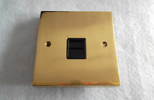 KINGSWAY CAST BRASS SINGLE OUTLET MASTER TELEPHONE SOCKET WITH BLACK INSERT