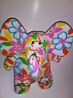 "BPosh Floral Elelphant  12"" Plush Stuffed Animal"
