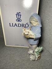 "Lladro #6102 ""Mothers Little Helper""w/ Original Box, Girl, Cats, Collectible"