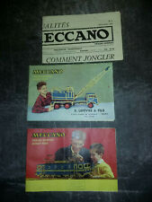 Meccano - hornby - dinky toys - lot de 2 catalogues 1956  & 1 journal N°2 1959