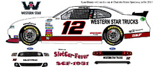 CD_1901 #12 Ryan Blaney Western Star Truck 2014 Mustang  1:24 Scale Decals