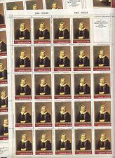 CCCP URSS 9 Feuilles Sheets 24 TP REMBRANDT Portrait Madame Martens 1983