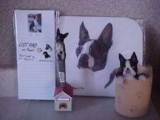 Boston Terrier 5 Piece Desk Set