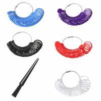 Plastic Ring Size Mandrel Stick Finger Gauge Ring Sizer Measuring Jewelry Tool