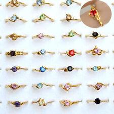 80/100pcs Wholesale Lots Mixed Colors Zircon Crystal Rhinestone Jewelry Rings