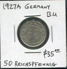 WEIMAR REPUBLIC - FANTASTIC NICKEL 50 REICHSPFENNIG,1927 A