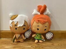 """NEW with tags The Flintstones Toy Factory Plush Pebbles & Bam Bam doll 10-12"""""""