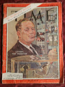 "TIME magazine October 4 1963 Oct 63 10/04/63 LITTON ""TEX"" THORNTON"