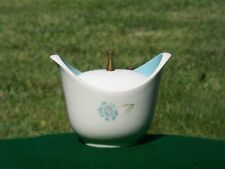 50s ATOMIC Inspired Taylor Smith Sugar Bowl Turquoise Wh BOUTONNIERE Ever Yours