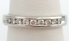 0.18 ct Platinum Round Diamond Wedding / Anniversary Band 3 mm Sz 3.75