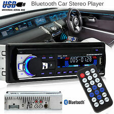 Bluetooth Auto Radio Stereo Lettore Testa Unità IN-DASH MP3/USB/SD/AUX-IN/FM iPod UK