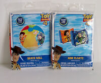 Lot of 2 Disney Pixar Toy Story 4 Beach Ball & Arm Floats with Repair Kits Age3+