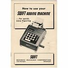 SWIFT ADDING MACHINE INSTRUCTION MANUAL Original Antique Vtg 10 Key Calculator