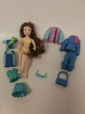 Polly Pocket Doll Rooted Hair Jointed Clothes Purse Sunglasses Varsity Jacket