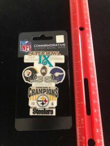 NEW World Champion Steelers Commemorative Super Bowl IX Pin Awesome Design NFL