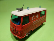 SOLIDO PEUGEOT J9 - AMBULANCE DE REANIMATION POMPIERS - RED 1:50 - VERY GOOD
