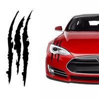 Universal Car Black Scratch Stripe Headlight Truck Decal Sticker Accessories