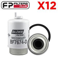 12 x BF7674-D Baldwin Fuel Filter - Caterpillar, John Deere - 1596102, RE62419