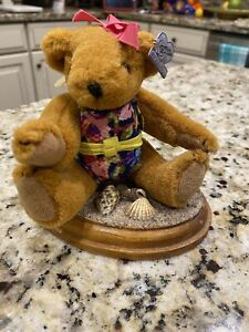 "BACK TO THE BEACH Annette Funicello BEACH PARTY ""Dede"" Bear In Swimsuit W Stand"