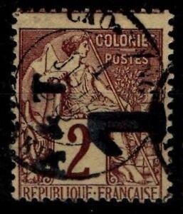 ANNAM & TONKIN : Variété A. DUBOIS 1a, Oblitéré = Cote 250 € / Timbre COLONIES