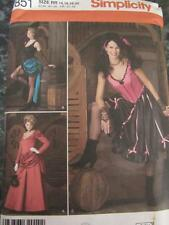 HALLOWEEN SEWING PATTERN SOUTHERN BELLE WESTERN BAR GIRL CATHOUSE SZ 14 16 18 20