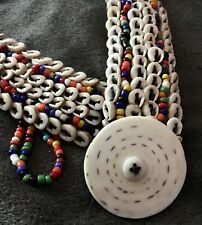 "Vintage Oceana Tribal Cowrie Shell Belt - Beaded 30"""