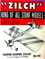 "Model Airplane Plans (UC): Berkeley SUPER DUPER ZILCH 52"" Stunt for .45-.60"