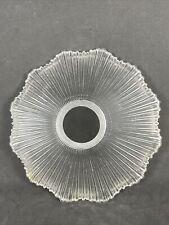 Holophane Glass Lamp Shade Rib Ruffle Prismatic Marked 1905 Franklin