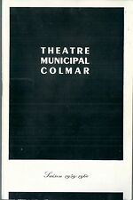 Programme Théâtre de Colmar 1959 Douze hommes en colère Galas Karsenty Blier