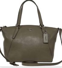 NEW w/ tag Coach Mini Kelsey FOG Gray Pebble Leather Kelsey Crossbody Bag F27596