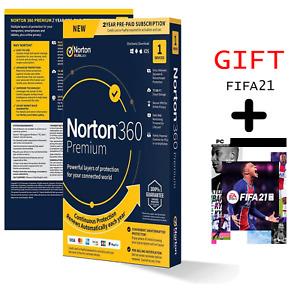 Norton 360 Premium 2021 1 PC 2 Year Internet Security + FIFA21 2021