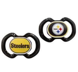 Pittsburgh Steelers NFL Pacifier 2 Pack Baby Toddler BPA FREE Silicone Nipple