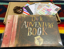 Our Adventure Book Pixar Up Handmade DIY Scrapbook Photo Album 80 Pages, Retro