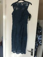 Lipsy Dress Size 8 V.i.P Teal Lace Bnwt