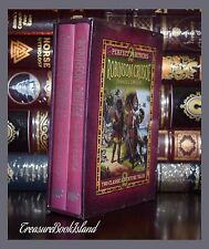 Gulliver's Travels & Robinson Crusoe by Swift New Sealed Slipcase Hardcover Gift