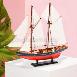 Wooden Sailboat Ship Model Nautical Sailing Boat Schooner Christmas Gift Toys