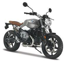 Motorrad Modell 1:12 BMW R Nine T Scrambler grau von Maisto