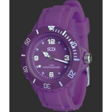 New Purple Unisex Mens Womens Silicon Rubber Sports Watches