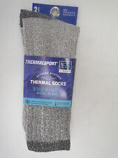 2pair Men's Excell Merino Wool Blend Thermal Boot Crew Socks 10-13