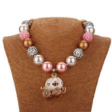 New Chunky Beads Bubblegum Gumball Cute Pink Pumpkin Car Necklace X-MAS Gift