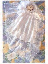 KNITTING PATTERN - BABY CHRISTENING ROBE/DRESS & MATCHING SHAWL IN 3-PLY